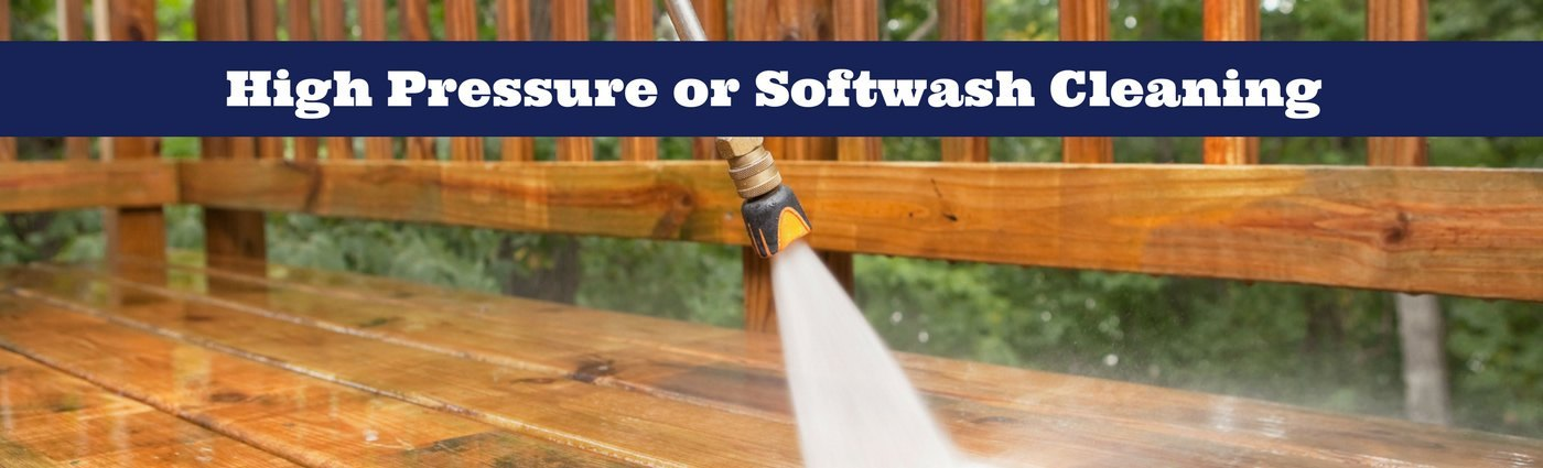 High Pressure or Softwash Cleaning